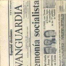 Coleccionismo Periódico La Vanguardia: DIARIO LA VANGUARDIA 9 MAYO 1983 - TIERNO GALVÁN ALCALDE. Lote 43403191