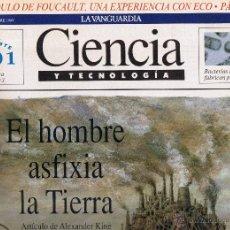 Coleccionismo Periódico La Vanguardia: LA VANGUARDIA - CIENCIA Y TECNOLOGIA Nº 4 - EL HOMBRE ASFIXIA LA TIERRA - OCTUBRE 1989 - PAG 16. Lote 43448192