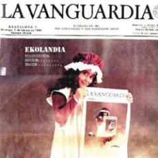 Colecionismo Jornal La Vanguardia: DIARIO LA VANGUARDIA. BARCELONA.100 AÑOS ANIVERSARIO PERIÓDICO + SUPLEMENTO CENTENARIO (1881-1981).. Lote 40013388