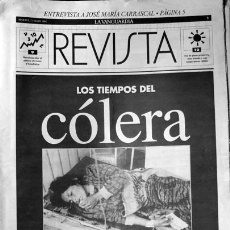 Coleccionismo Periódico La Vanguardia: SUPLEMENTO LA VANGUARDIA REVISTA LOS TIEMPOS DEL CÓLERA. Lote 43973201