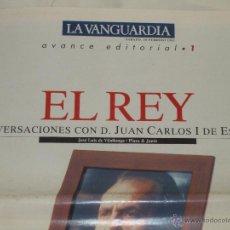 Coleccionismo Periódico La Vanguardia: EL REY. LA VANGUARDIA.. Lote 45038574