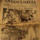 Coleccionismo Periódico La Vanguardia: LA VANGUARDIA 8 NOVIEMBRE 1982 - EL PAPA JUAN PABLO II A LOS PIES DE LA MORENETA. Lote 45357775