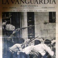 Coleccionismo Periódico La Vanguardia: LA VANGUARDIA NOTAS GRAFICAS GUERRA CIVIL 30 JULIO 1936 TOLEDO-MADRID-FRENTE DE GUADARRAMA. Lote 174133704
