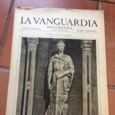 Coleccionismo Periódico La Vanguardia: LA VANGUARDIA, 1933. SUPLEMENTO 8 PÁGINAS - COPA DAVIS, PALAFRUGELL, BARCELONA, MADRID, Y MUCHO MÁS. Lote 45803551