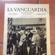 Coleccionismo Periódico La Vanguardia: LA VANGUARDIA, 1933. SUPLEMENTO 4 PÁGINAS - LEY SECA, CAPDELLA, MADRID, CARTAGENA, Y MUCHO MÁS. Lote 45803798