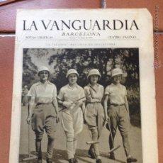 Coleccionismo Periódico La Vanguardia: LA VANGUARDIA, 1933. SUPLEMENTO 4 PÁGINAS - EL POLO, MIRANDA DE EBRO, HUELVA, MADRID, Y MUCHO MÁS. Lote 45804012