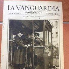 Coleccionismo Periódico La Vanguardia: LA VANGUARDIA, 1933. SUPLEMENTO 4 PÁGINAS - HUELGA TRANVIAS, ACCIDENTE AVIÓN EN FRANCIA, Y MUCHO MÁS. Lote 45804153
