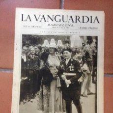 Coleccionismo Periódico La Vanguardia: LA VANGUARDIA, 1933. SUPLEMENTO 4 PÁGINAS - SALAMANCA, TARRAGONA, BILBAO, CORNELLÀ, MADRID, Y MÁS.... Lote 45804454