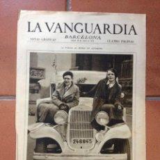 Coleccionismo Periódico La Vanguardia: LA VANGUARDIA, 1933. SUPLEMENTO 4 PÁGINAS - NÚRIA, MONTSERRAT, TUY, CARTAGENA, MUSSOLINI, Y MÁS.... Lote 45804520
