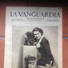 Coleccionismo Periódico La Vanguardia: LA VANGUARDIA, 1932. SUPLEMENTO 4 PÁGINAS - EMILIA ALIAGA, EL DEPORTE EN BARCELONA Y MÁS.... Lote 45805018