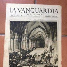 Coleccionismo Periódico La Vanguardia: LA VANGUARDIA, 1932. SUPLEMENTO 4 PÁGINAS - LA CATEDRAL DE TARRAGONA, OBRAS DE REFORMA Y MÁS.... Lote 45805077