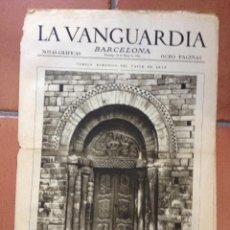 Coleccionismo Periódico La Vanguardia: LA VANGUARDIA, 1931. SUPLEMENTO 8 PÁGINAS. VALLE DE ARAN, SETCASES, VIELLA, SANT MIQUEL FAY Y MÁS.... Lote 45805197