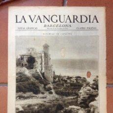 Coleccionismo Periódico La Vanguardia: LA VANGUARDIA, 1931. SUPLEMENTO 4 PÁGINAS. OLOT, MOTO CLUB ESPAÑA, TARRAGONA Y MÁS.... Lote 45805706