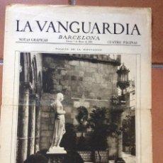 Coleccionismo Periódico La Vanguardia: LA VANGUARDIA, 1930. SUPLEMENTO 4 PÁGINAS. CAMPEONATO LIGA, MYRURGIA, BARCELONA Y MÁS.... Lote 45805853