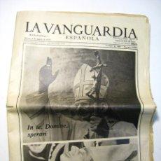 Coleccionismo Periódico La Vanguardia: LA VANGUARDIA - 8 AGO. 1978 - ESPECIAL MUERTE PAPA PABLO PAULO VI . Lote 46536810