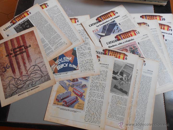 Coleccionismo Periódico La Vanguardia: CATALUÑA en la GUERRA CIVIL ESPAÑOLA 20 Fascículos 1986 - Foto 2 - 50471253