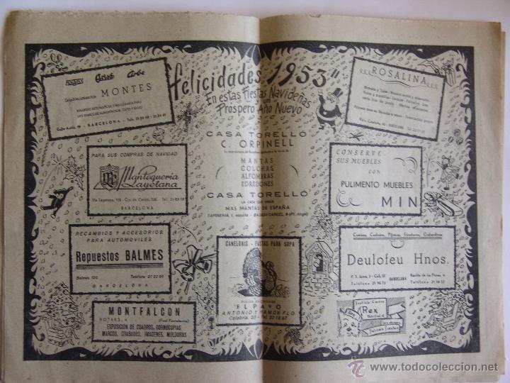Coleccionismo Periódico La Vanguardia: LA VANGUARDIA 25 DICIEMBRE 1952 FELICES PASCUAS DE NAVIDAD Y AÑO NUEVO 1953 - Foto 2 - 50956236