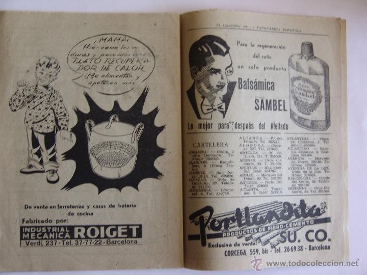 Coleccionismo Periódico La Vanguardia: LA VANGUARDIA 25 DICIEMBRE 1952 FELICES PASCUAS DE NAVIDAD Y AÑO NUEVO 1953 - Foto 3 - 50956236