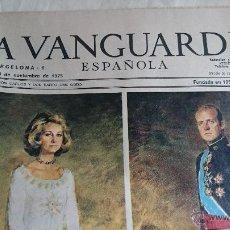Coleccionismo Periódico La Vanguardia: DIARIO LA VANGUARDIA ESPAÑOLA REY JUAN CARLOS BORBÓN 23 NOVIEMBRE 1975. Lote 52303176