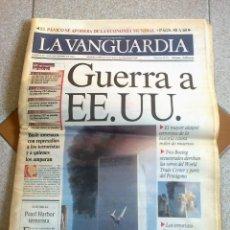 Colecionismo Jornal La Vanguardia: LA VANGUARDIA DEL DIA 12 DE SEPTIEMBRE DE 2001-ATAQUE TERRORISTA A LAS TORRES GEMELAS DE N.Y.. Lote 52623021