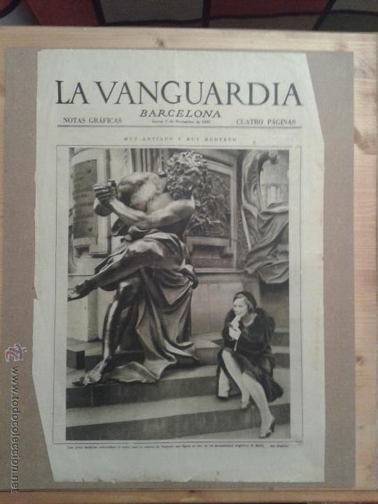 LOTE MÁS DE 150 PORTADAS NOTAS GRAFICAS DE LA VANGUARDIA (Coleccionismo - Revistas y Periódicos Modernos (a partir de 1.940) - Periódico La Vanguardia)