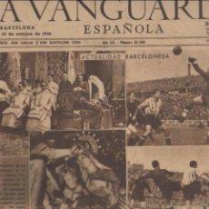 Coleccionismo Periódico La Vanguardia: LA VANGUARDIA ESPAÑOLA *** 10 OCTUBRE 1944 ** ACTUALIDAD ESPAÑOLA. Lote 53390123