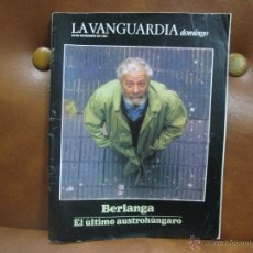 Coleccionismo Periódico La Vanguardia: REVISTA 11/1987 LA VANGUARDIA.- BERLANGA GRAN REPTJE.,EL CRICKET,EL GLACIAL PERITO MORENO,. Lote 54045503