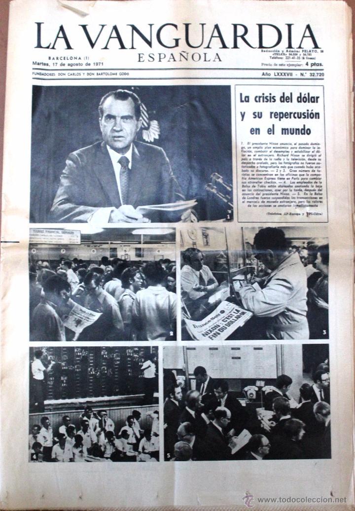 ANTIGUO PERIÓDICO *LA VANGUARDIA*, MARTES, 17 DE AGOSTO DE 1971. (Coleccionismo - Revistas y Periódicos Modernos (a partir de 1.940) - Periódico La Vanguardia)