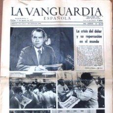 Coleccionismo Periódico La Vanguardia: ANTIGUO PERIÓDICO *LA VANGUARDIA*, MARTES, 17 DE AGOSTO DE 1971.. Lote 54734919