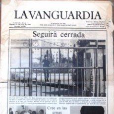 Coleccionismo Periódico La Vanguardia: ANTIGUO PERIODICO *LA VANGUARDIA*, MARTES 22 DE JUNIO DE 1982, + SUPLEMENTO.. Lote 57577173