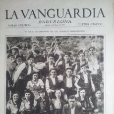 Coleccionismo Periódico La Vanguardia: ESBART DANSAIRE FOMENT DE LA SARDANA, LA HARMONIA DE TARRAGONA 1933. Y ANUNCIOS FARMACIA.VELL I BELL. Lote 55135865