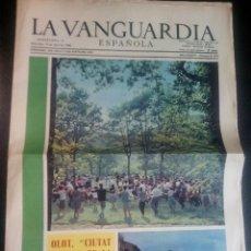 Coleccionismo Periódico La Vanguardia: SUPLEMENTO DE LA VANGUARDIA ESPAÑOLA ABRIL 1968 DEDICADO A OLOT VER FOTOS. Lote 55321553