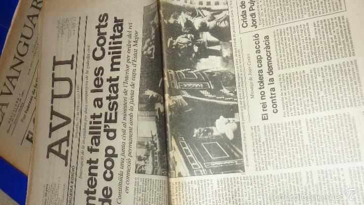 Coleccionismo Periódico La Vanguardia: golpe de estado 23 f febrero . periodico avui - 24 febrero 3ª ed y la vanguardia - 24 febrero - Foto 3 - 55412427