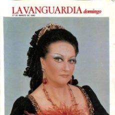 Coleccionismo Periódico La Vanguardia: LA VANGUARDIA 27 DE MARZO DE 1983 HISTORIA DEL LICEO DE BARCELONA. Lote 56576704