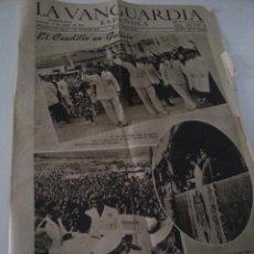 Coleccionismo Periódico La Vanguardia: LA VANGUARDIA 13 AGOSTO 1944 - CAUDILLO EN GALICIA 4 PAGINAS - DOBLADO Y BORDES DETERIORADOS. Lote 56739557