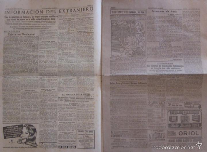 Coleccionismo Periódico La Vanguardia: LA VANGUARDIA - AÑO 1944 - LA VISITA A VIGO DEL JEFE DEL ESTADO FRANCISCO FRANCO - Foto 2 - 56911649