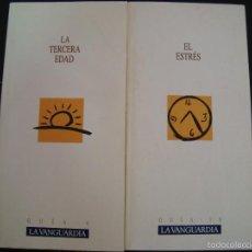 Coleccionismo Periódico La Vanguardia: GUIAS LA VANGUARDIA. EL ESTRES GUIA 10 Y LA TERCERA EDAD GUIA 6. . Lote 57108107
