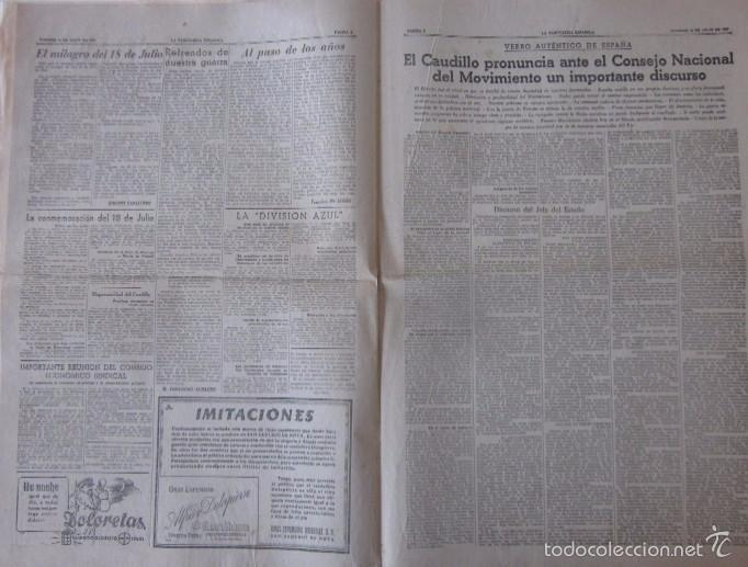 Coleccionismo Periódico La Vanguardia: LA VANGUARDIA DEL 18 DE JULIO DE 1941 - FRANCO, V ANIVERSARIO DEL ALZAMIENTO NACIONAL - Foto 3 - 58254830