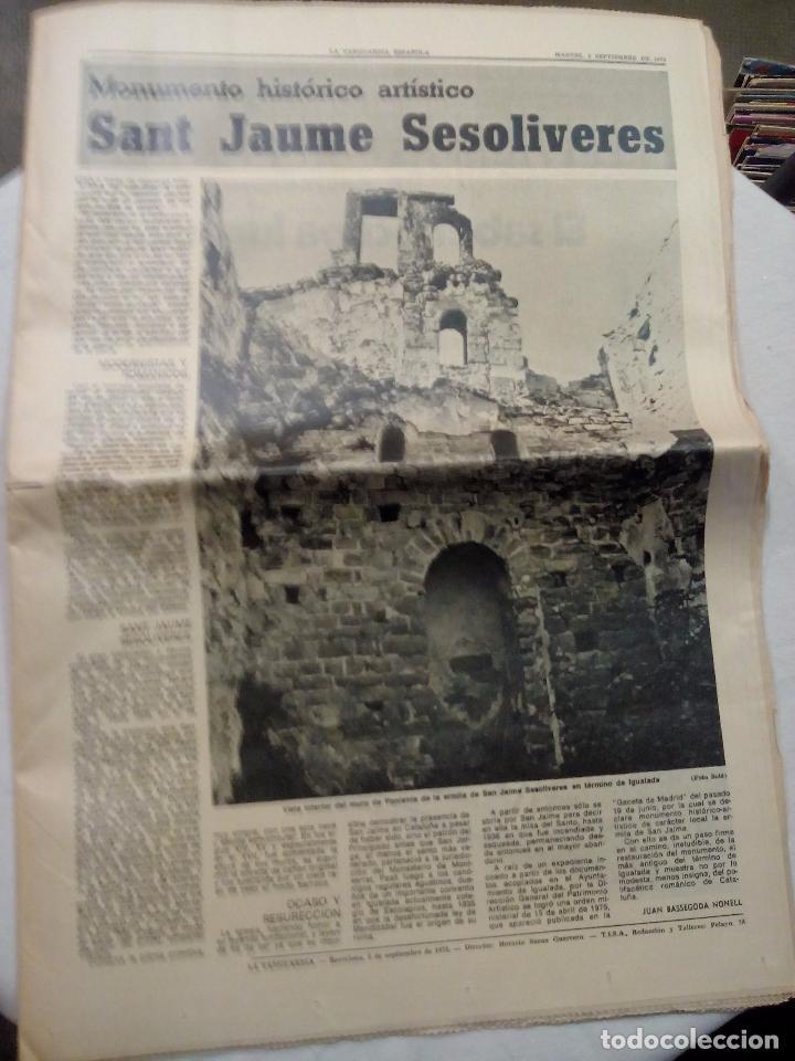 LA VANGUARDIA ESPAÑOLA. SANT JAUME SESOLIVERES. SEPTIEMBRE 1975. (Coleccionismo - Revistas y Periódicos Modernos (a partir de 1.940) - Periódico La Vanguardia)