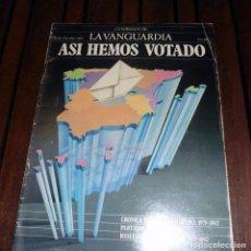 Coleccionismo Periódico La Vanguardia: CUADERNOS DE LA VANGUARDIA 29 OCTUBRE 1982 ASI HEMOS VOTADO. Lote 68752097