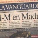 Coleccionismo Periódico La Vanguardia: LA VANGUARDIA - 12 MARZO 2004. Lote 71851763