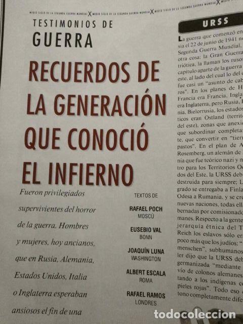 Coleccionismo Periódico La Vanguardia: 2ª Guerra Mundial 50 Años Después - MAGAZINE La Vanguardia (7-Mayo-1995) La Guerra Imborrable - Foto 3 - 73511183