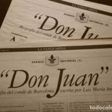 Coleccionismo Periódico La Vanguardia: DON JUAN -BIOGRAFÍA DEL CONDE DE BARCELONA- SUPLEMENTO LA VANGUARDIA (23-OCTUBRE-1994) LUIS Mª ANSON. Lote 73511703