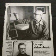 Coleccionismo Periódico La Vanguardia: LORENZO GOÑI - UN TOPO AL DESCUBIERTO -ARTÍCULO DEL SUPLEMENTO LA VANGUARDIA AÑOS 80 (HOJAS SUELTAS). Lote 142930006