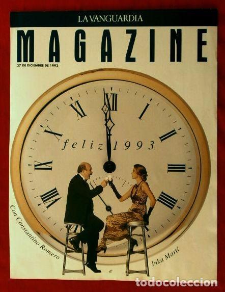 MAGAZINE DE LA VANGUARDIA 27-DIC-1992 (SOLO LA PORTADA - UNA HOJA) FELIZ 1993 - CONSTANTINO ROMERO (Coleccionismo - Revistas y Periódicos Modernos (a partir de 1.940) - Periódico La Vanguardia)