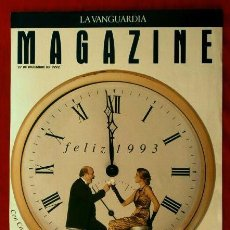 Coleccionismo Periódico La Vanguardia: MAGAZINE DE LA VANGUARDIA 27-DIC-1992 (SOLO LA PORTADA - UNA HOJA) FELIZ 1993 - CONSTANTINO ROMERO. Lote 78475477