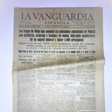 Coleccionismo Periódico La Vanguardia: LA VANGUARDIA 2ª EPOCA, 10 DE MARZO DE 1939. CON TEXTO INTEGRO FUERO DEL TRABAJO. Lote 81231828
