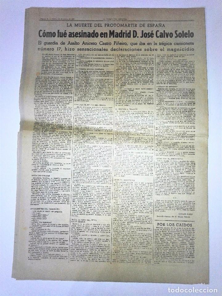 Coleccionismo Periódico La Vanguardia: LA VANGUARDIA 2ª EPOCA, 10 DE MARZO DE 1939. CON TEXTO INTEGRO FUERO DEL TRABAJO - Foto 2 - 81231828