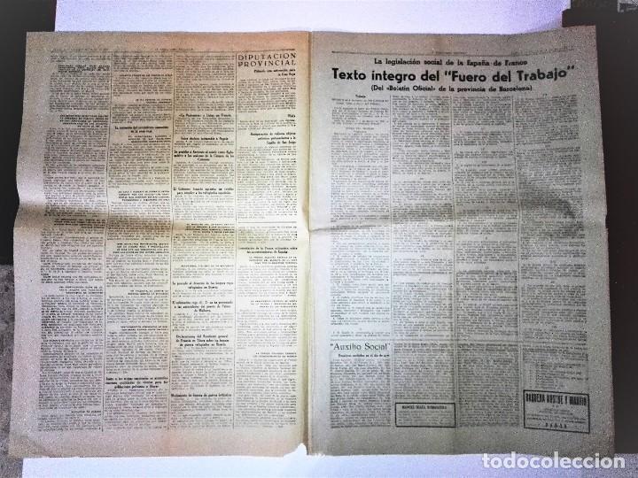 Coleccionismo Periódico La Vanguardia: LA VANGUARDIA 2ª EPOCA, 10 DE MARZO DE 1939. CON TEXTO INTEGRO FUERO DEL TRABAJO - Foto 3 - 81231828