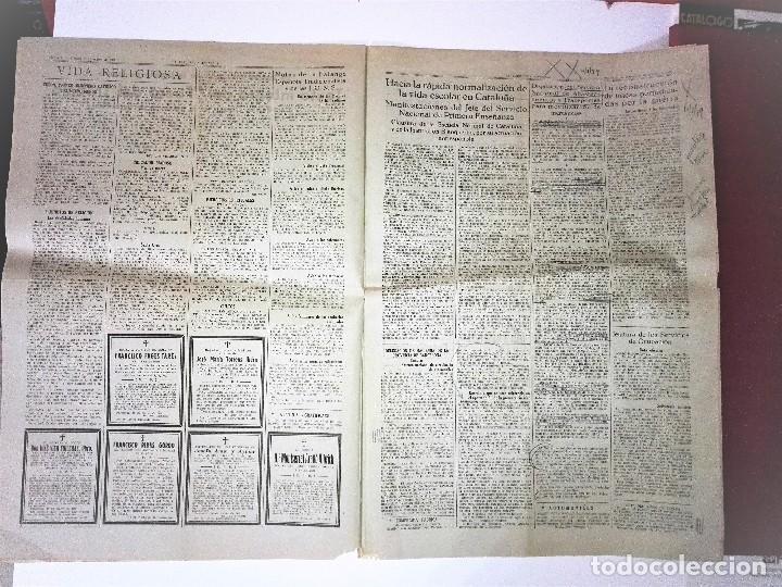 Coleccionismo Periódico La Vanguardia: LA VANGUARDIA 2ª EPOCA, 10 DE MARZO DE 1939. CON TEXTO INTEGRO FUERO DEL TRABAJO - Foto 4 - 81231828